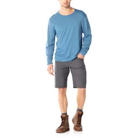 Icebreaker Nature Dye Galen T-shirt Col ras-du-cou manches longues Homme, true indigo lt
